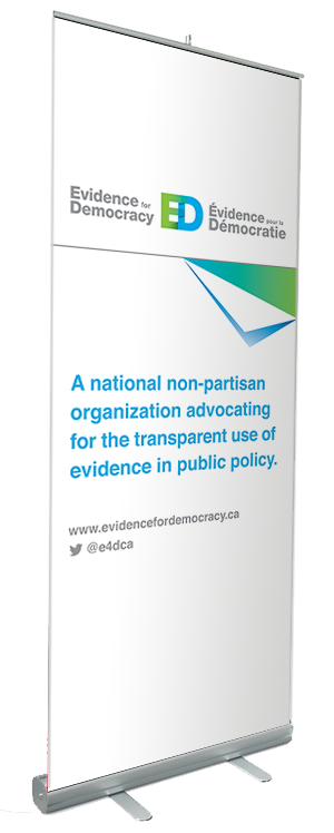 Evidence for Democracy pop-up banner
