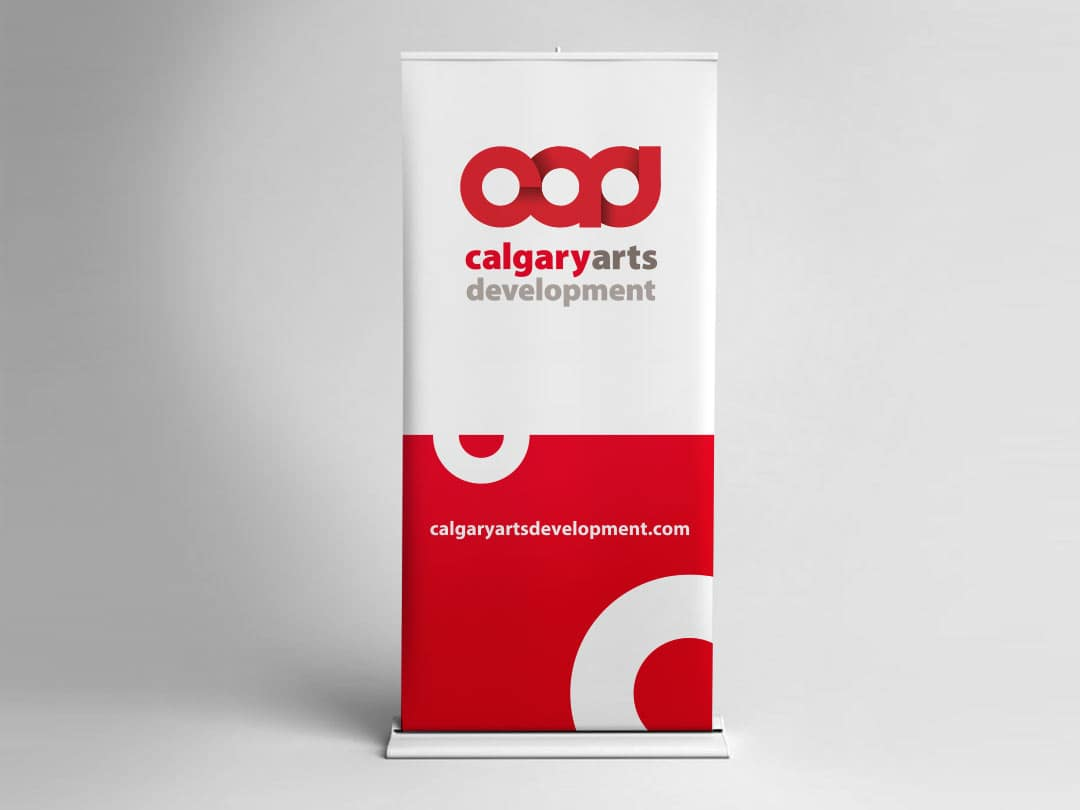 Calgary Arts Development pop-up banner