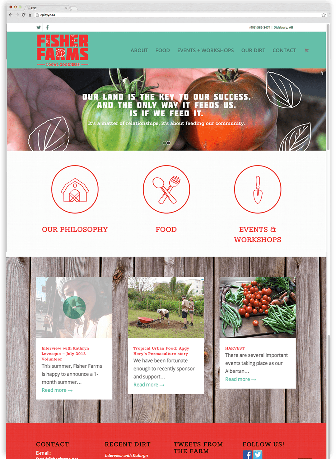 Fisher Farms website