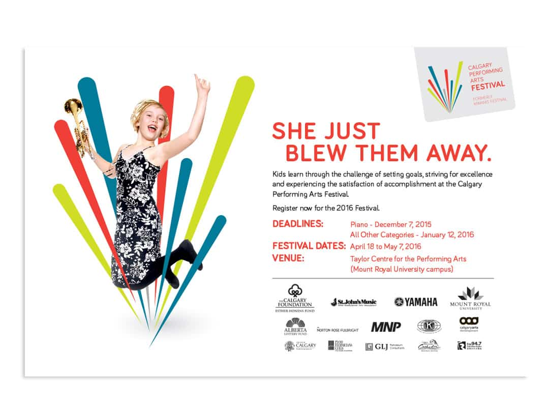 Calgary Performing Arts Festival Ad