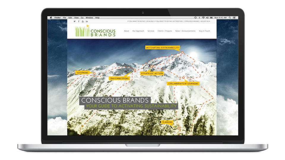 Conscious Brands website