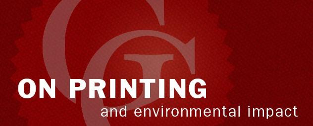 Printing and environmental impact