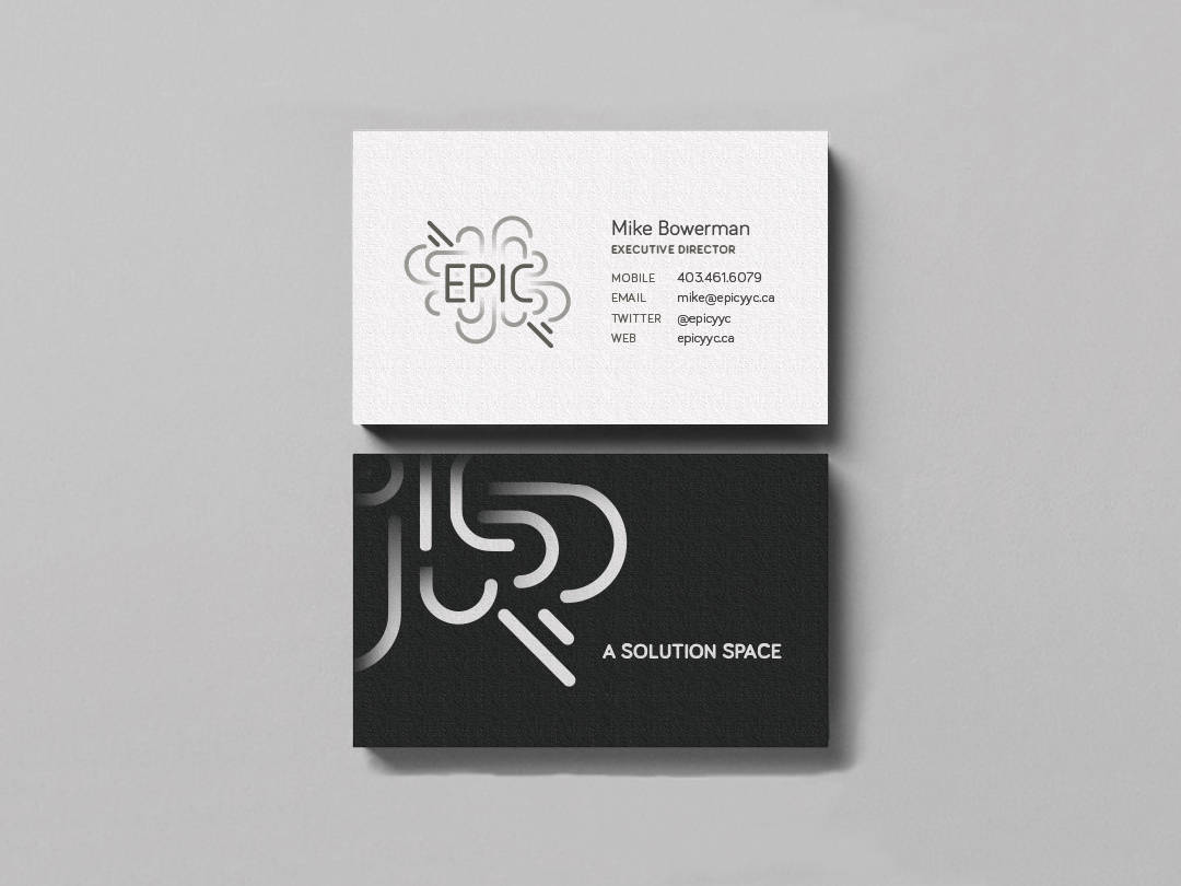 EPIC branding - business card