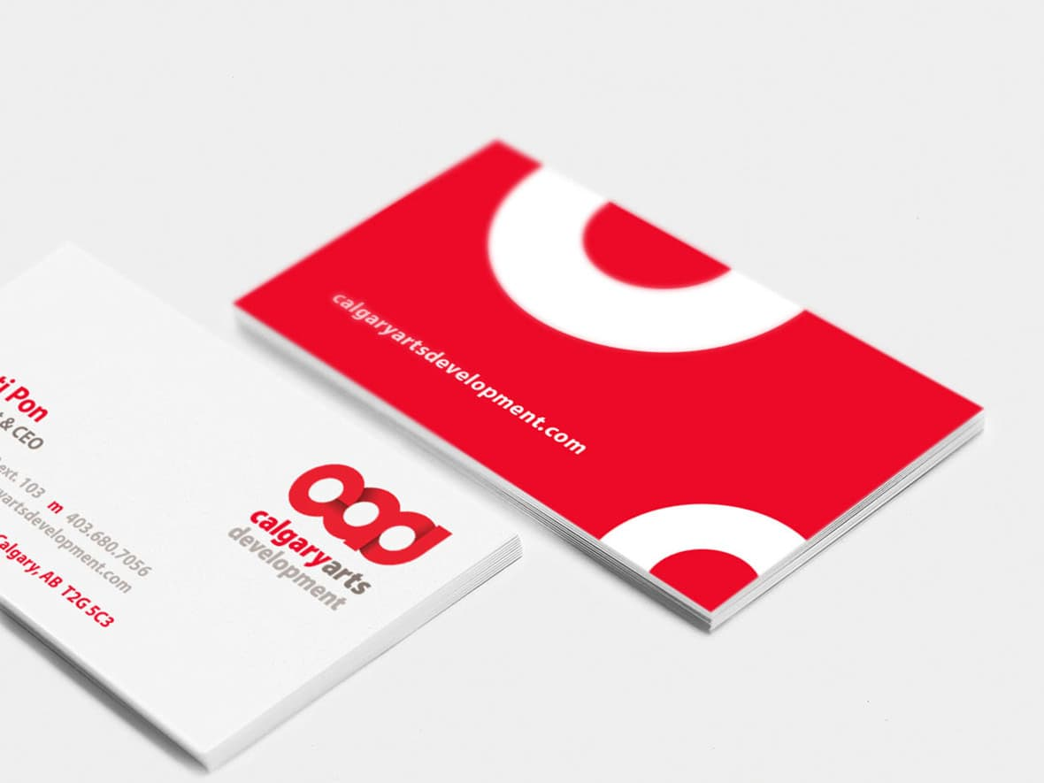 Calgary Arts Development business card