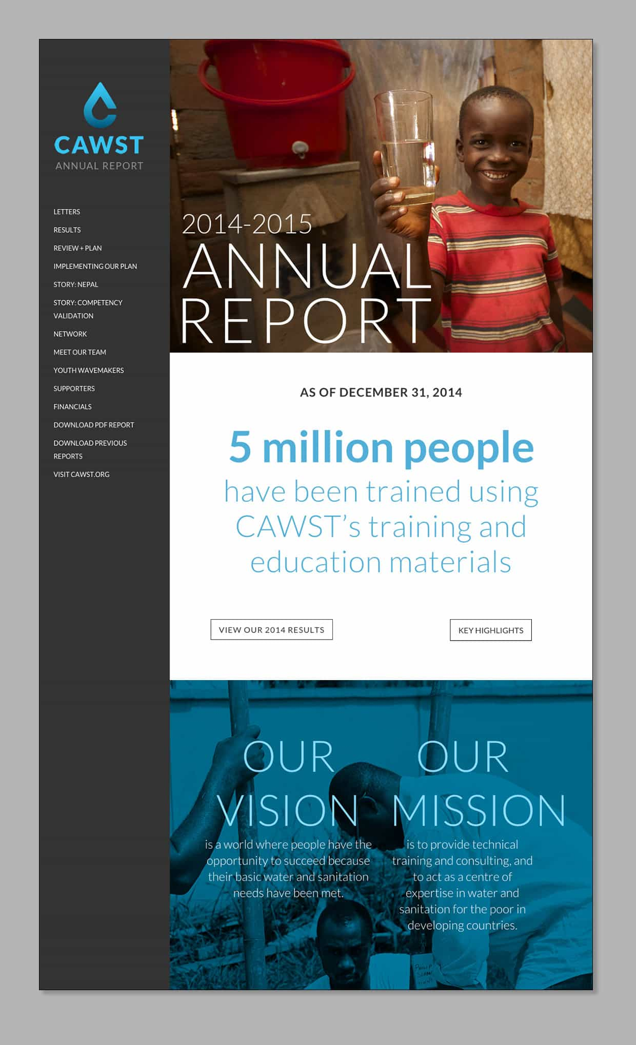 CAWST annual report