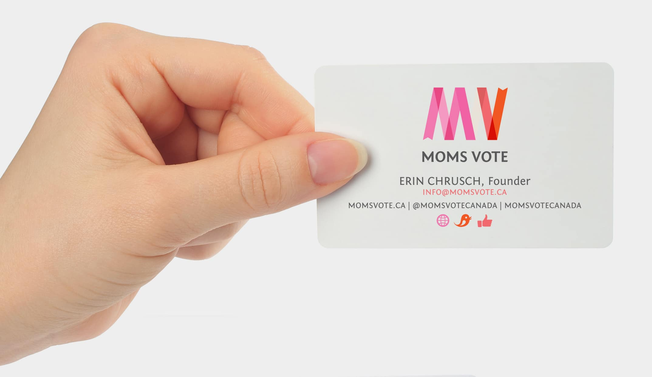 Moms Vote Business Card
