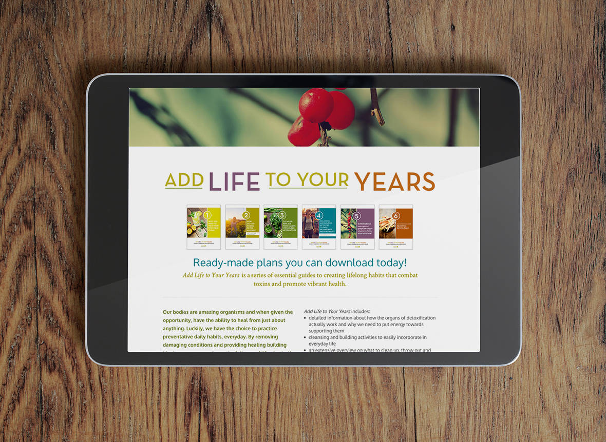 Dandelion Holistic Nutrition website - Add Life to Your Years - e-books for download
