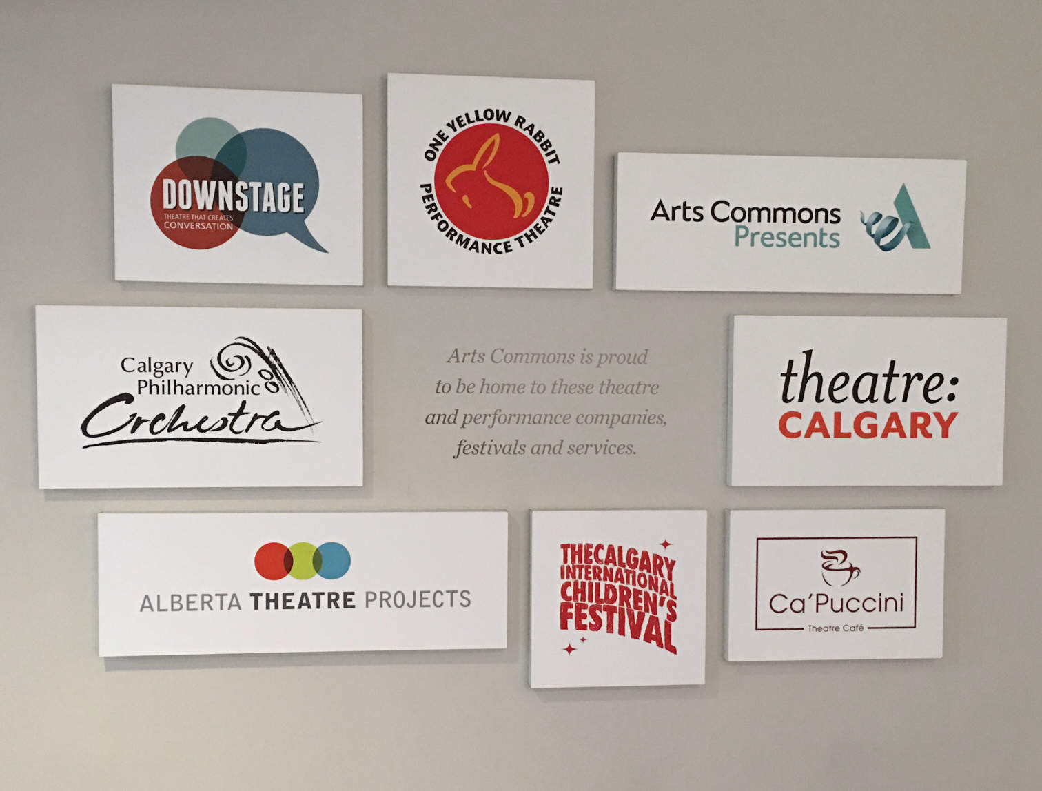 Downstage Arts Commons Wall Calgary Graphic Design