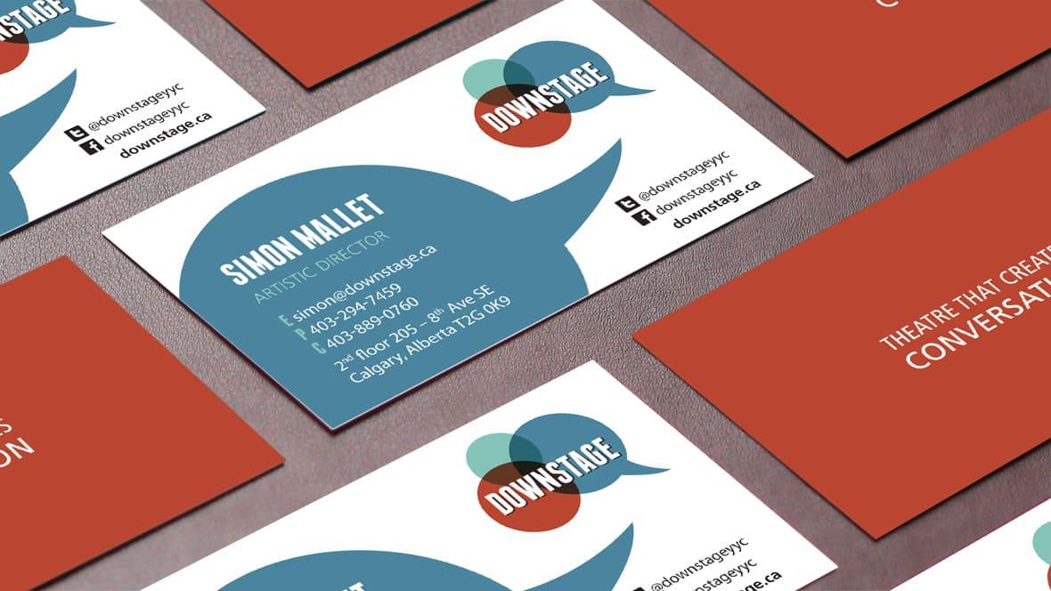 Downstage Calgary Card Design