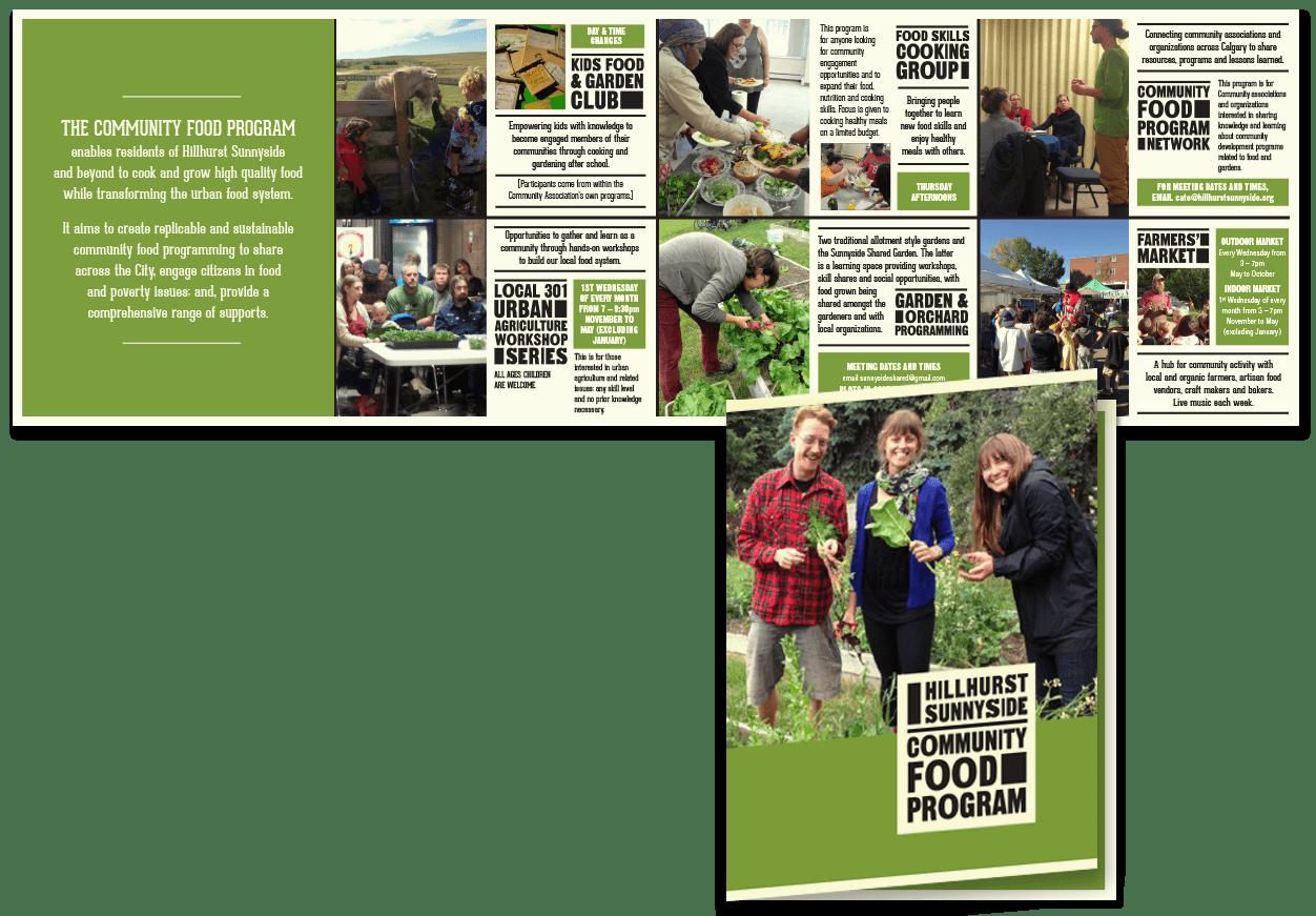 Hillhurst Sunnyside Community Food Program brochure