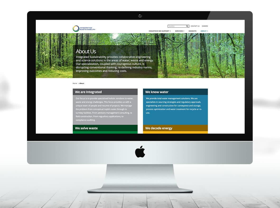 Integrated Sustainability website