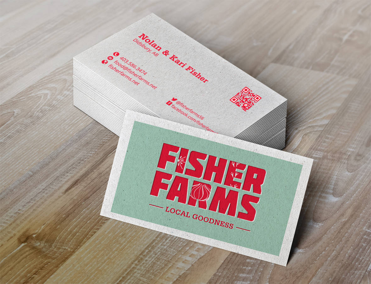 Fisher Farms Business Card Design