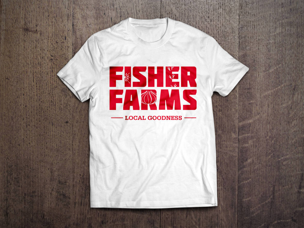 Fisher Farms tshirt design