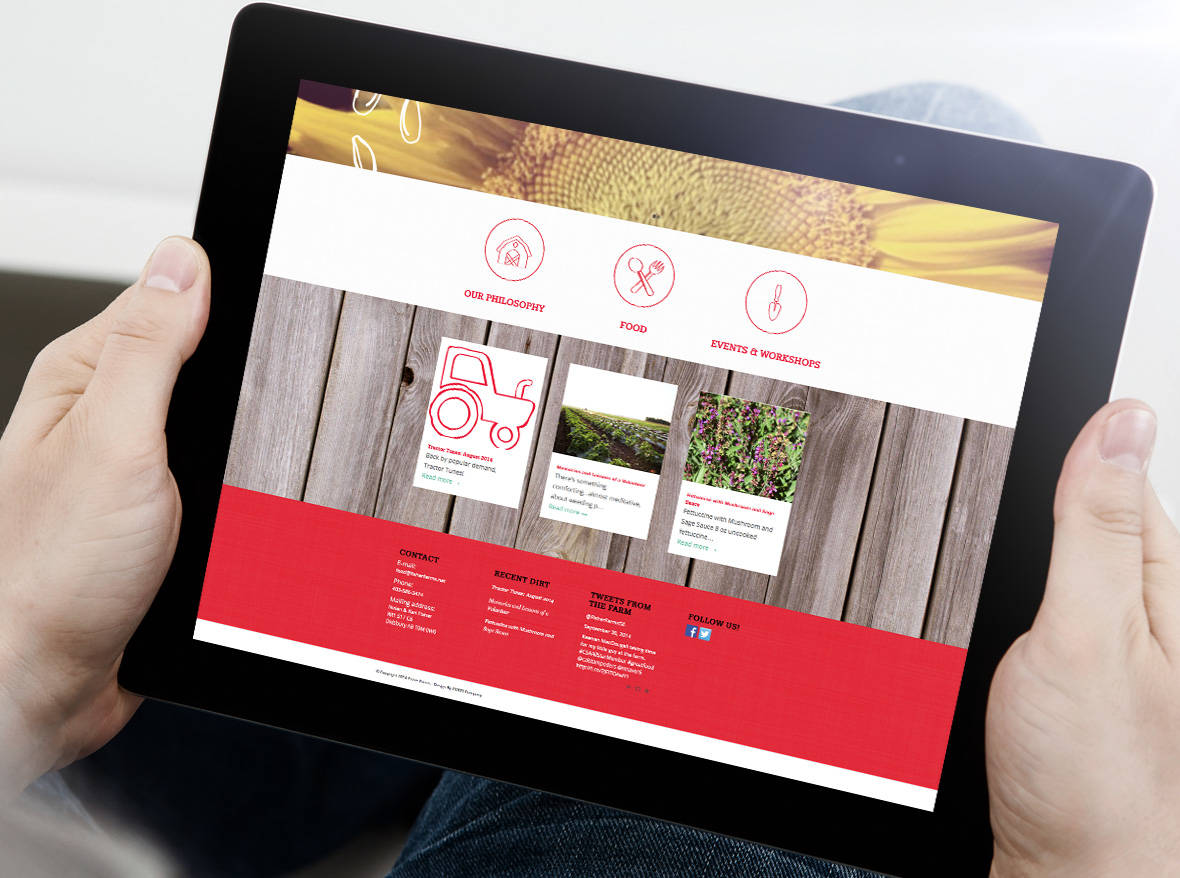 Fisher Farms Brand and Website Design