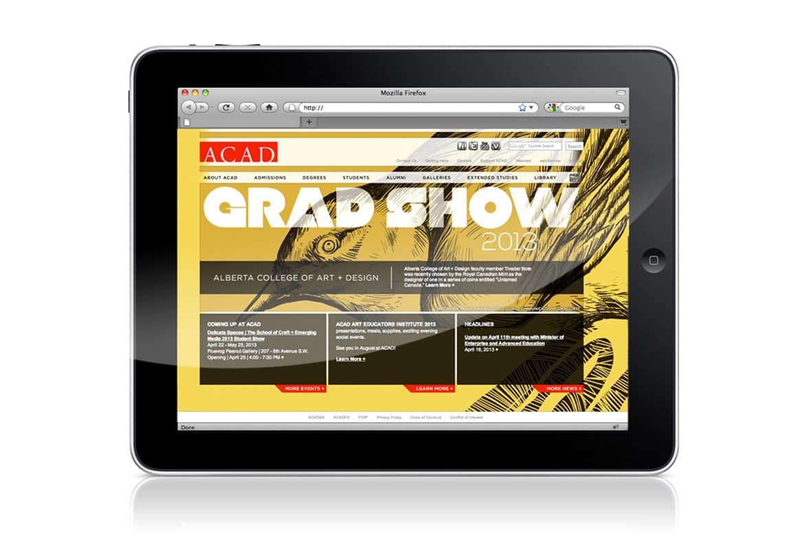 ACAD Grad Show Website