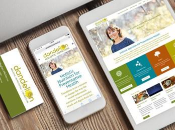 Dandelion Holistic Nutrition - Responsive website & business cards