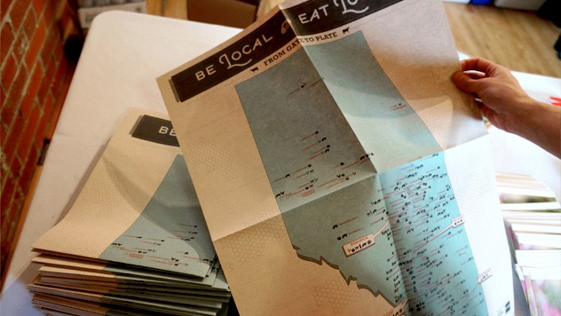 Be Local Eat Local map