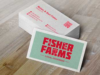 Fisher Farms business card