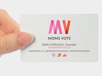 Moms Vote card