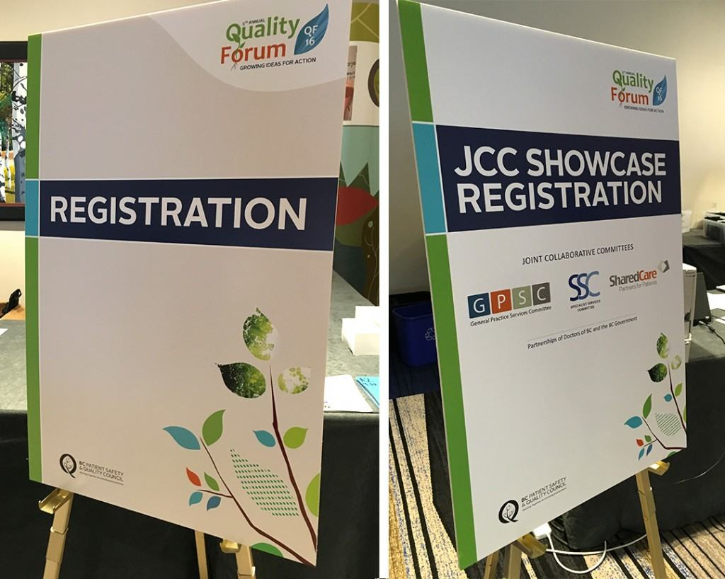 BCPSQC Quality Forum Signage
