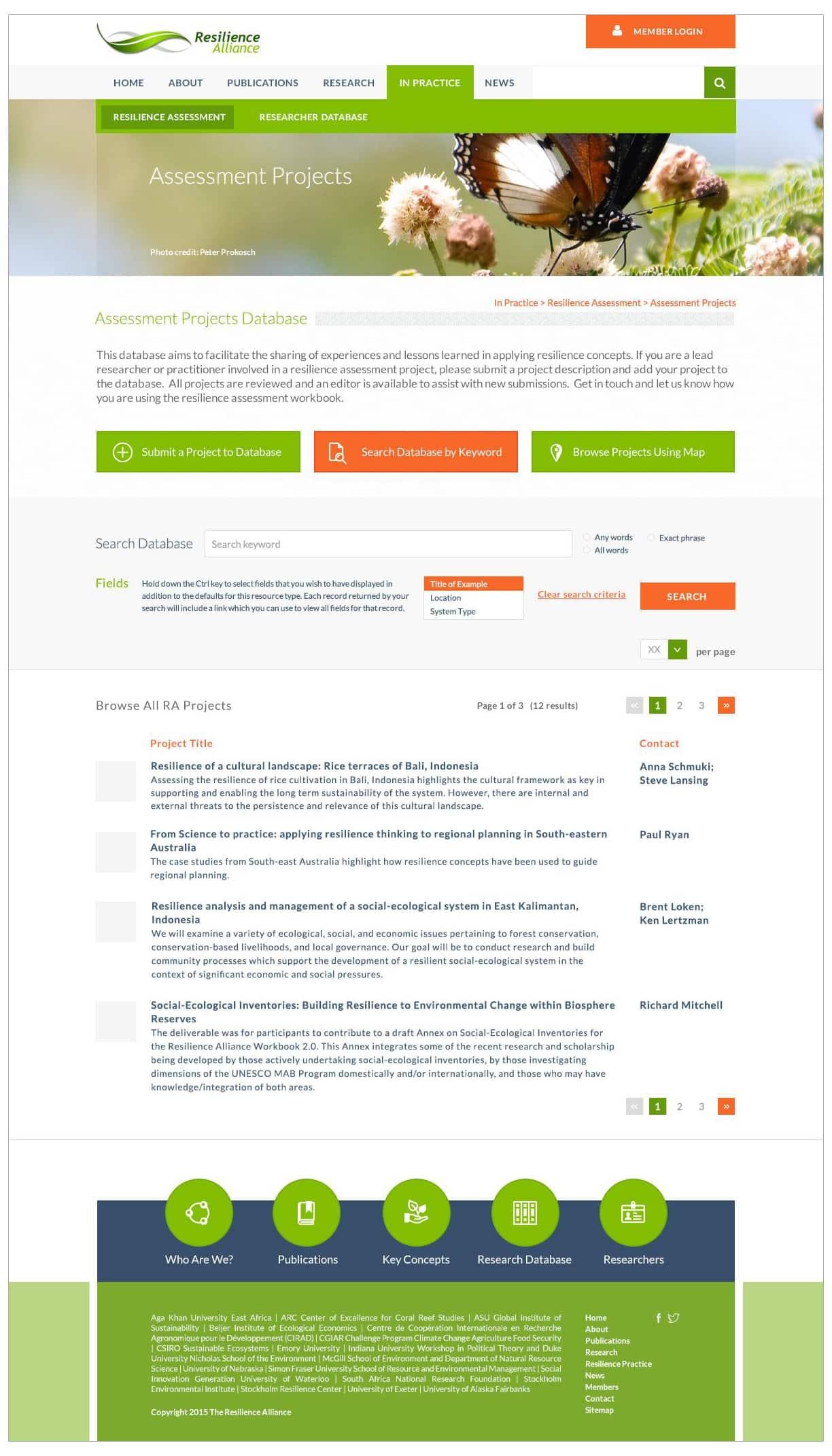 Resilience Alliance website