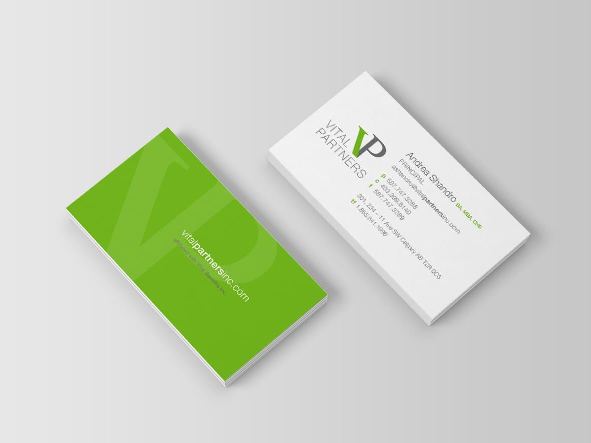 Vital Partners Calgary Bcard