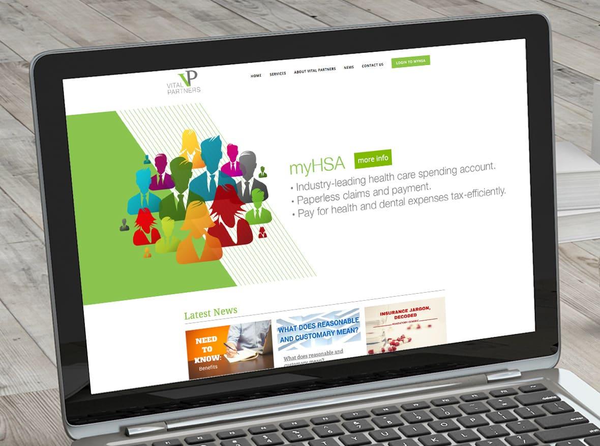 Vital Partners Website Design