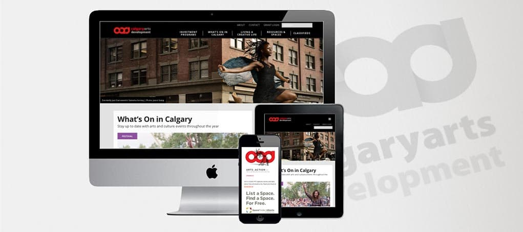 Calgary Arts Development responsive website