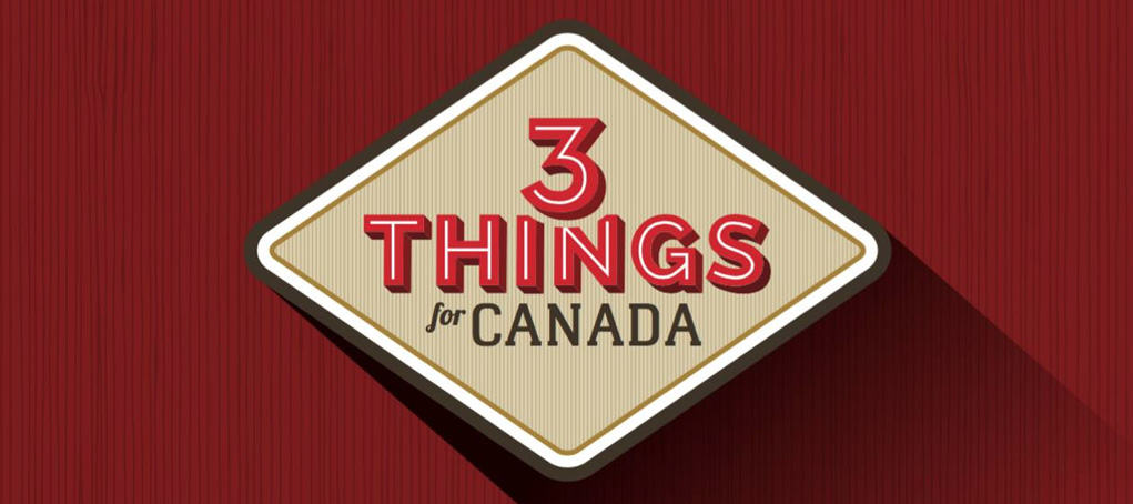 Three Things for Canada logo