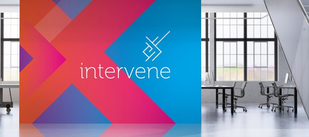 Intervene logo feature