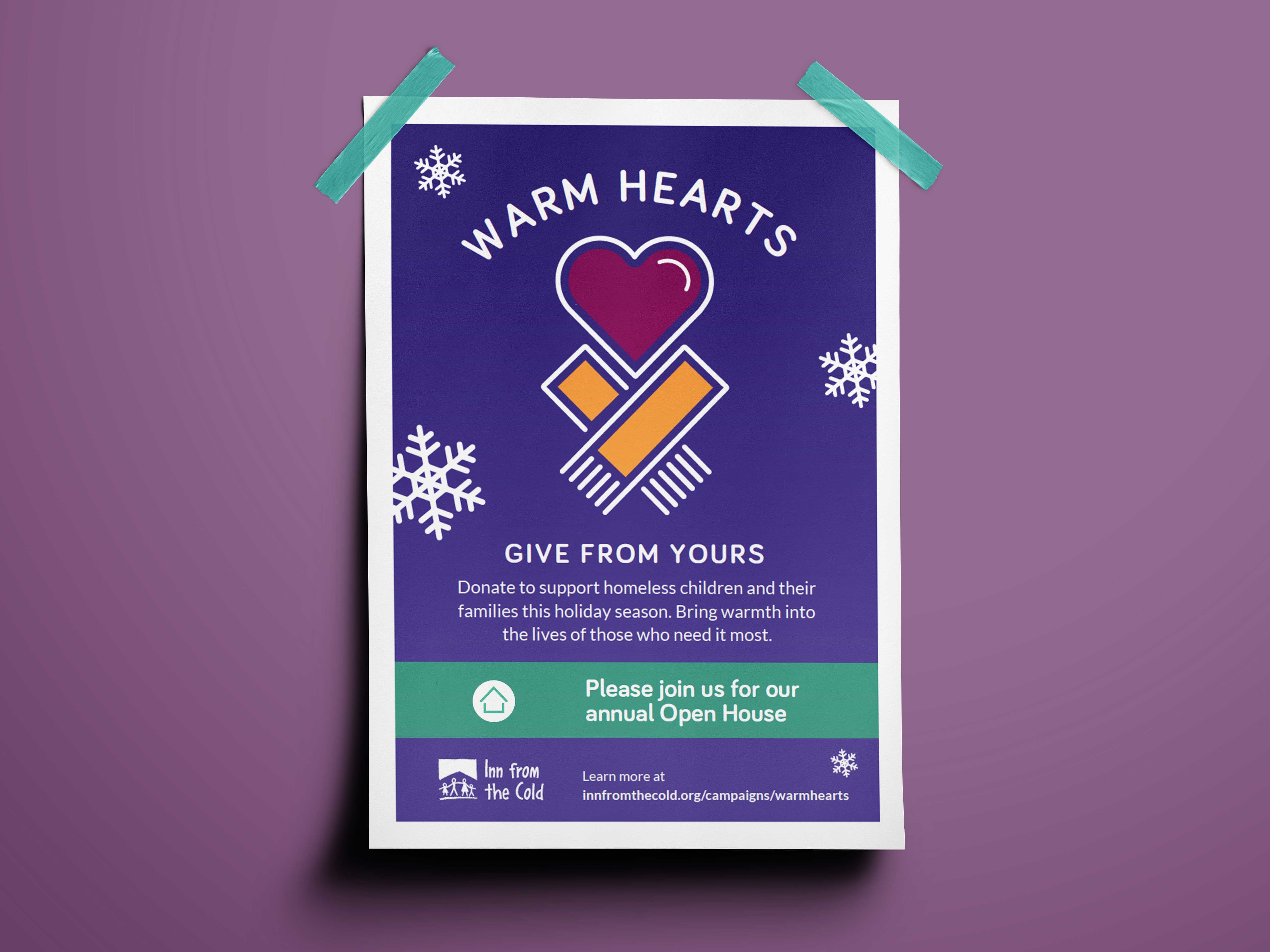 Warm Hearts Fundraising Campaign Poster
