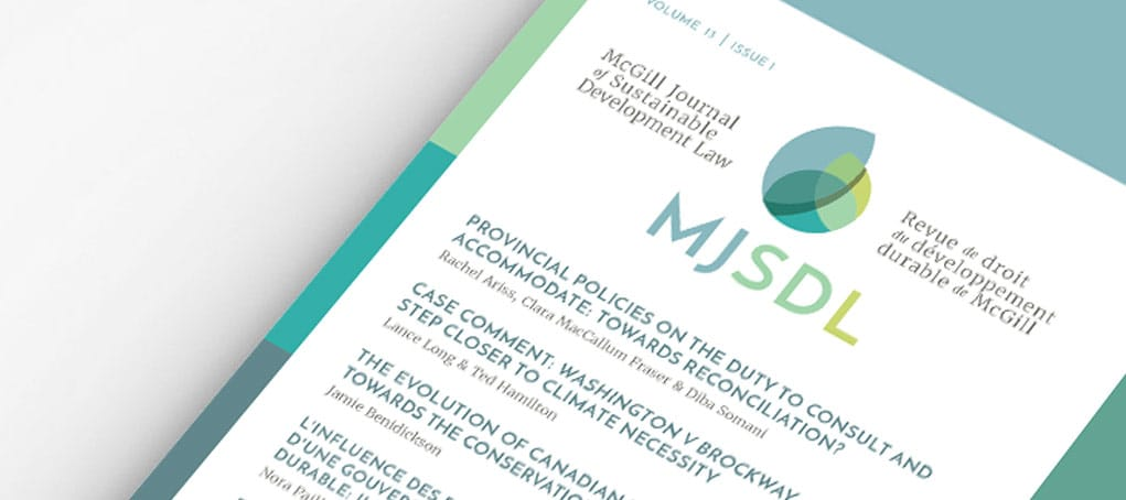 McGill Journal of Sustainable Development Law