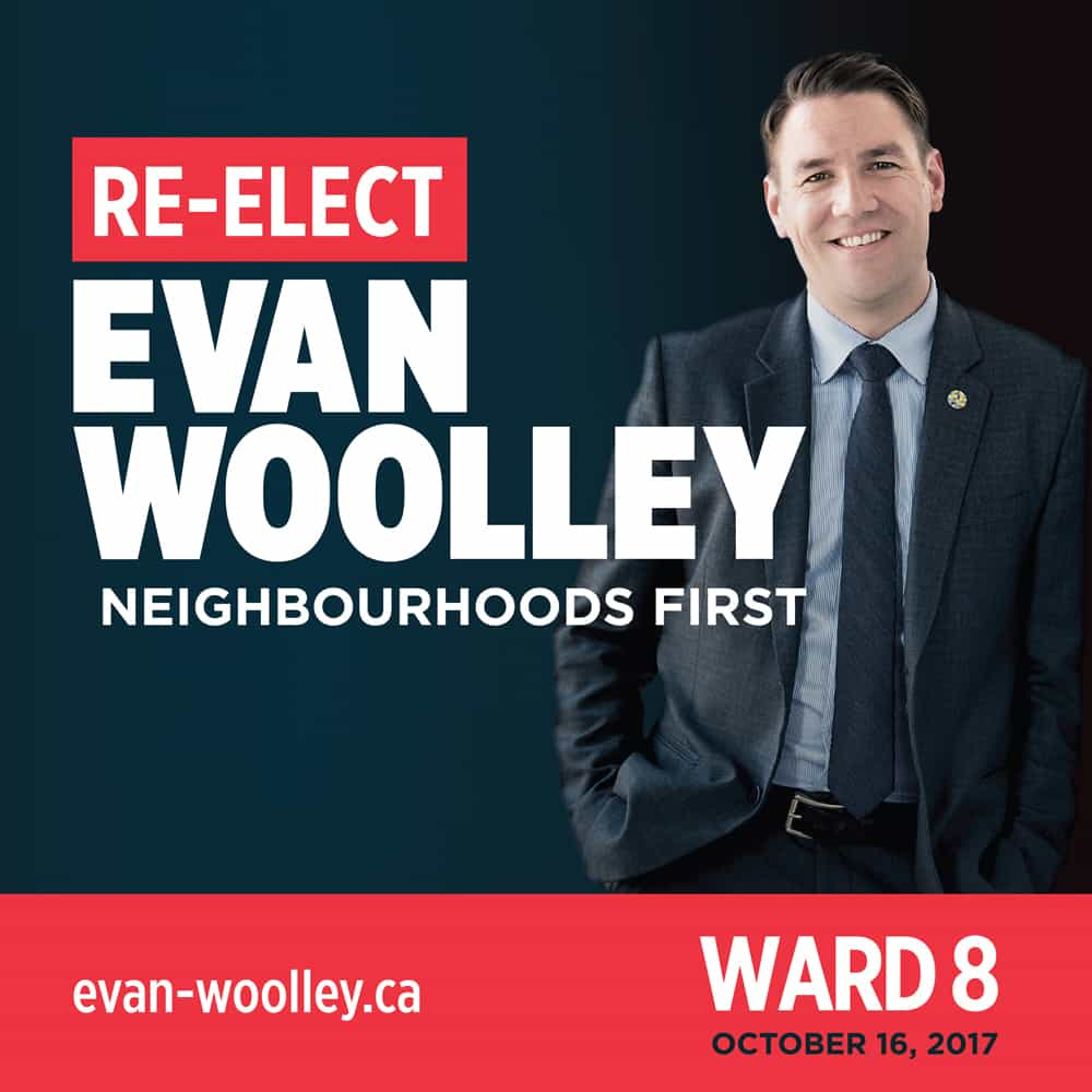 Evan Woolley Lawn Sign