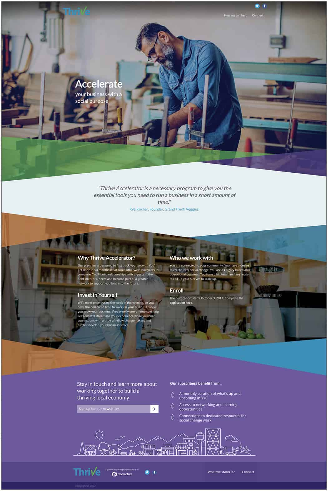 Thrive Website design