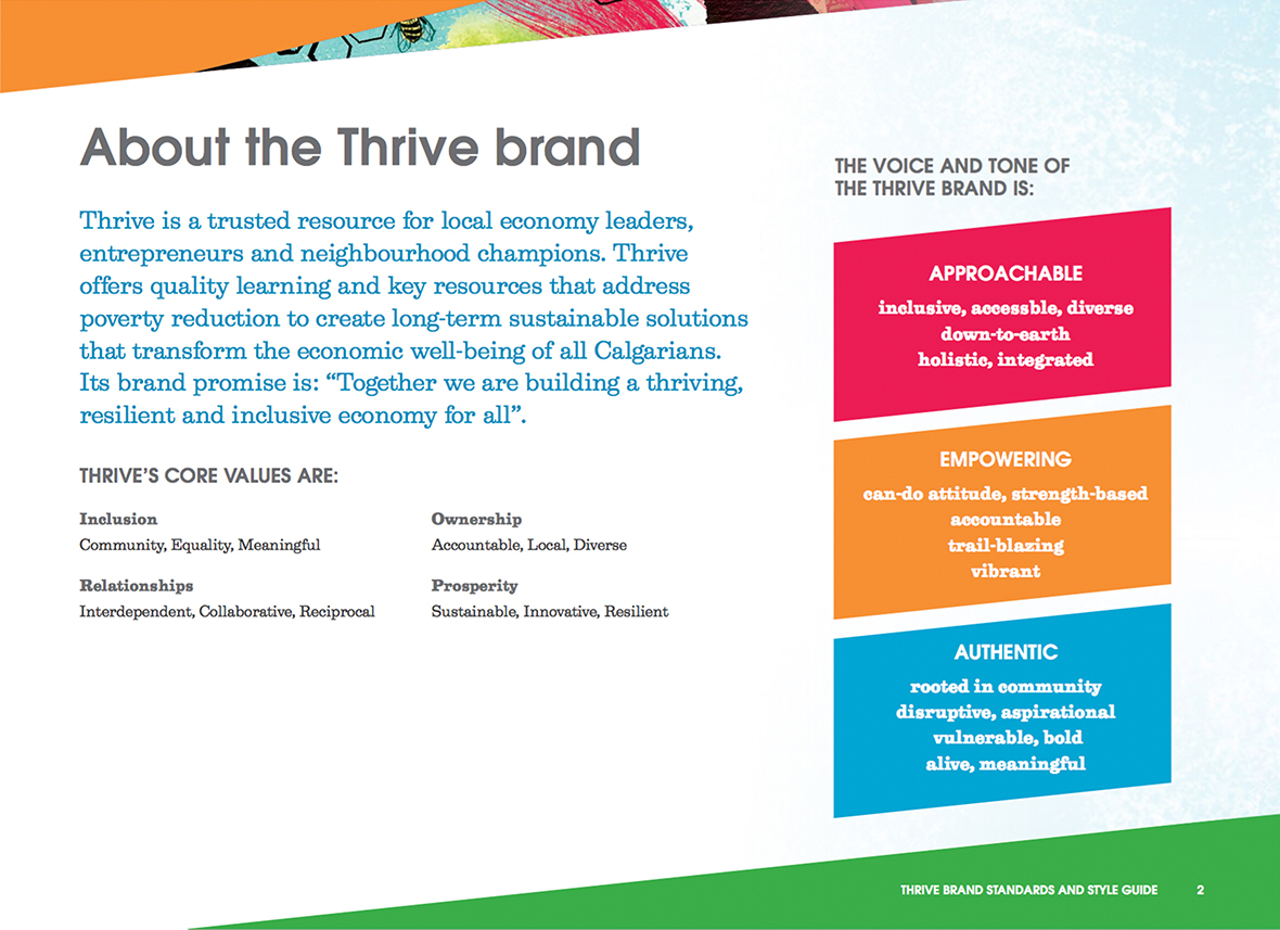 Thrive brand style guide