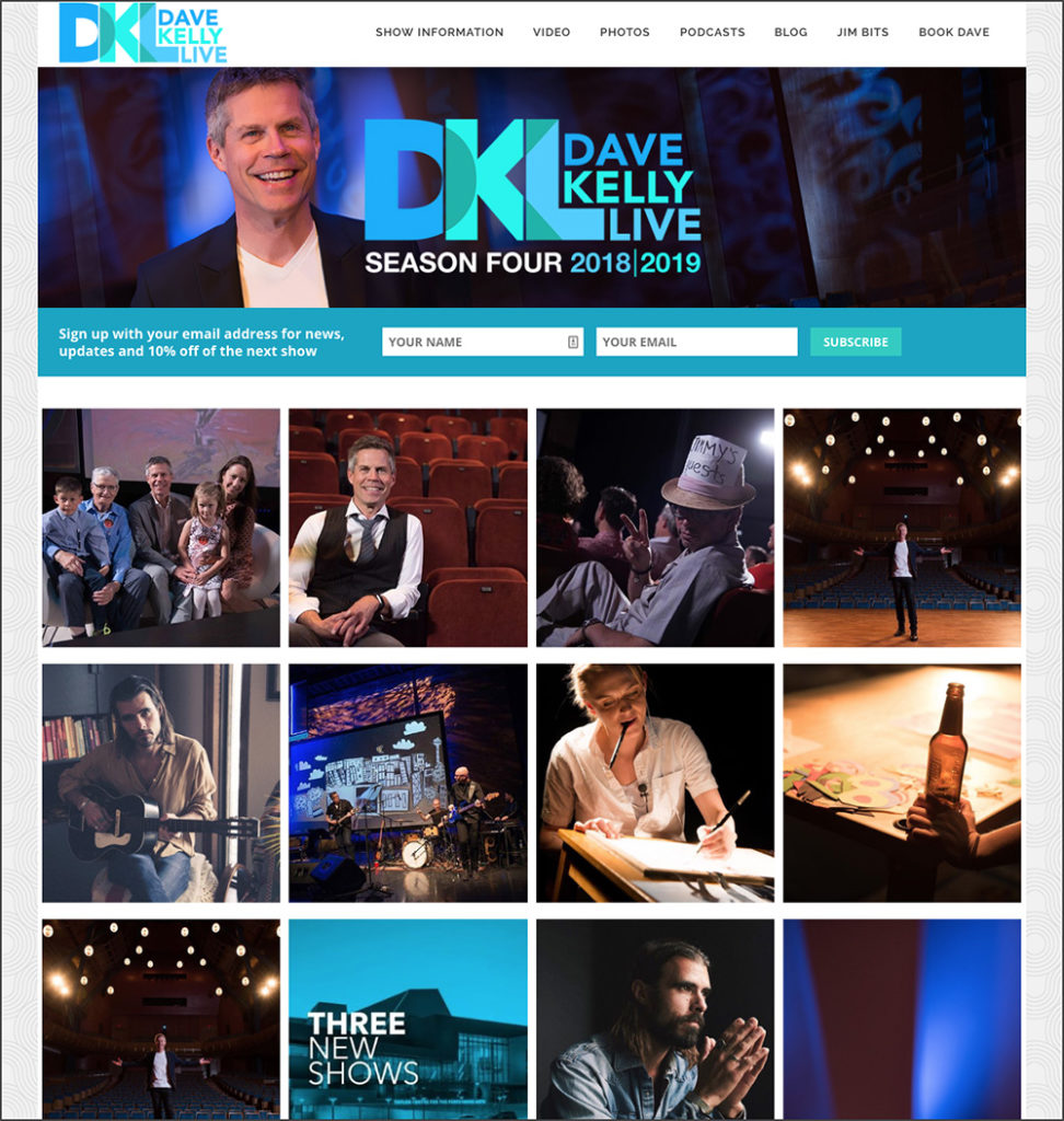 Dave Kelly Live website