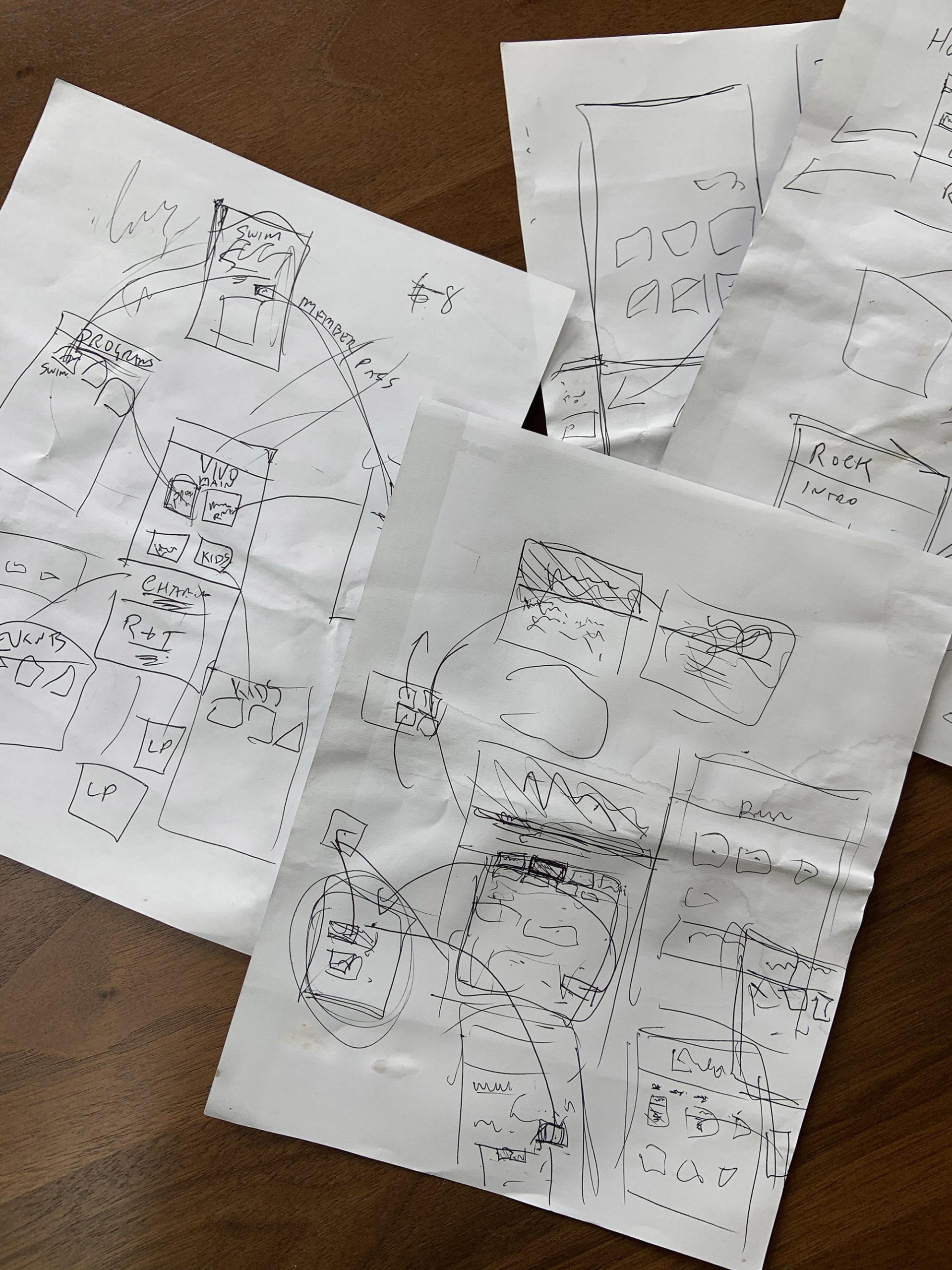 wireframe sketch